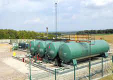Industrial gas pumping station Stock Photography