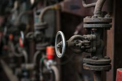 Industrial gate valves Royalty Free Stock Photography