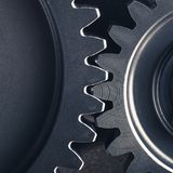 Industrial gear cogwheels. Close-up view Royalty Free Stock Photo