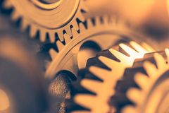 Industrial gear wheels. Close-up view Royalty Free Stock Photo
