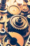 Industrial gear wheels. Close-up view Stock Images