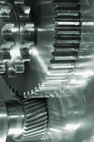 Industrial gears in action Stock Photo