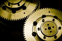 Industrial gears background Stock Photos