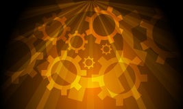 Industrial Gears Background Royalty Free Stock Photos