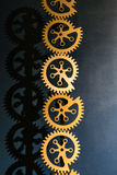 Industrial gears background. Industrial metal background with se stock photo