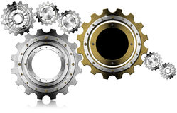 Industrial Gears Background Stock Image