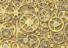 Industrial gears background, texture grunge iron plates. Background of gears and cogs. mechanism concept Royalty Free Stock Photography