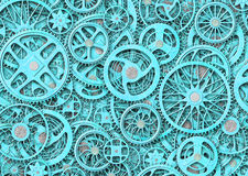 Industrial gears background, texture grunge iron plates. Background of gears and cogs. mechanism concept Stock Photo