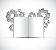 Industrial gears and book illustration design Stock Images
