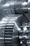 Industrial gears at close-ups Royalty Free Stock Photos