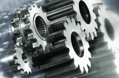 Industrial gears in dual color Stock Images