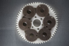 Industrial gears made from plastics. Stock Photos