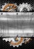 Industrial Gears Metal Background royalty free illustration