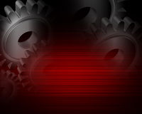 Industrial gears red metallic back Royalty Free Stock Photography