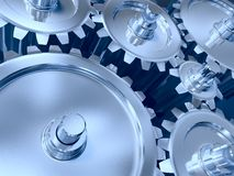 Industrial gears set Stock Images