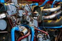 Industrial generator closeup Royalty Free Stock Photos