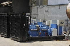 Industrial Generators Stock Photo