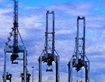 Harbor Cranes. In the port of Cape Town Stock Images