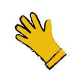 Industrial glove isolated Royalty Free Stock Photos