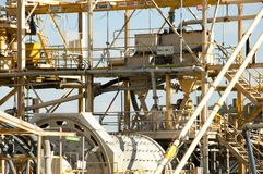 Mining Process Plant. Industrial Gold Mining Process Plant stock images