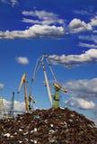 Industrial grabber cranes Stock Image