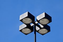 Industrial grade commercial street light. Tall pole Royalty Free Stock Image