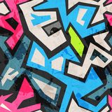 Industrial graffiti seamless with grunge effect Stock Images