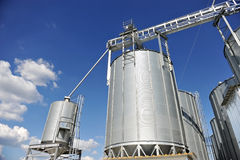 Industrial grain silo Stock Images
