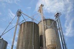 Industrial grain silos Stock Photo