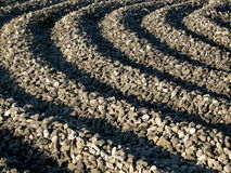 Industrial Gravel Pattern - Curve Royalty Free Stock Image