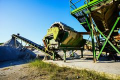 Industrial Gravel Quarry Stock Photography