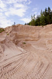 Industrial gravel quarry in the forest Royalty Free Stock Image