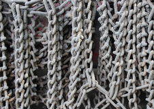 Industrial gray chains hanging on a truck Royalty Free Stock Photography
