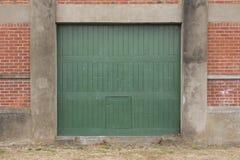 Industrial green door Royalty Free Stock Image