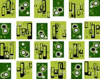 Industrial green retro Stock Images