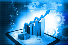 Industrial growth of  business chart Stock Photo
