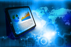 Industrial growth of  business chart Royalty Free Stock Photo