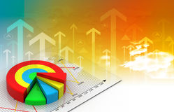 Industrial growth of  business chart. Digital illustration Royalty Free Stock Photos