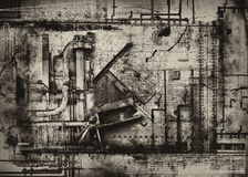 Industrial grunge background. Illustrated industrial grunge style background royalty free illustration