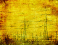 Industrial grunge background. High voltage, industrial grunge background Stock Photo