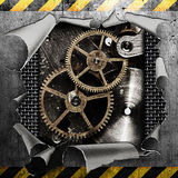 Industrial grungy steel plate Royalty Free Stock Photography