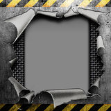 Industrial grungy steel plate Stock Photography