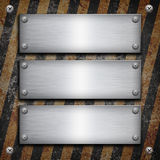 Industrial grungy steel plate Stock Photos