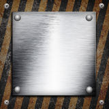 Industrial grungy steel plate Royalty Free Stock Images
