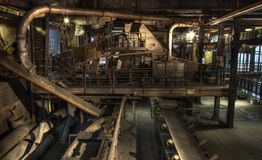 Industrial hall coal factory Stock Image