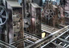 Industrial hall coal factory Stock Photography