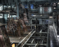 Industrial hall coal factory Stock Images