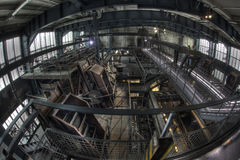 Industrial hall coal factory Royalty Free Stock Images