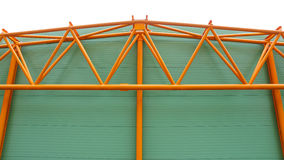 Industrial hall metal structure profile Stock Photography