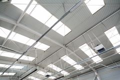 Industrial hall roof Stock Photography